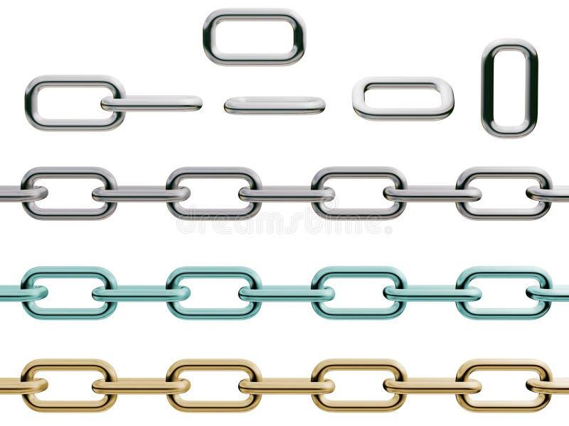 链详细集 向量例证