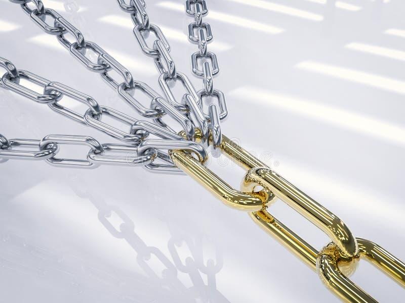 链连接 皇族释放例证