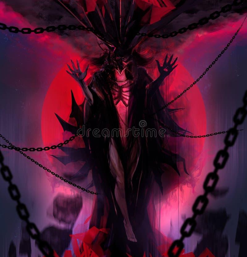 链邪魔女神 向量例证