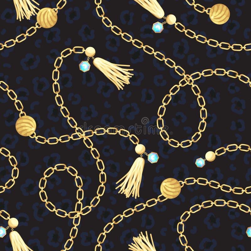 链金传送带样式时尚设计 库存例证
