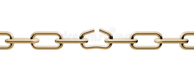 链金子解开 向量例证