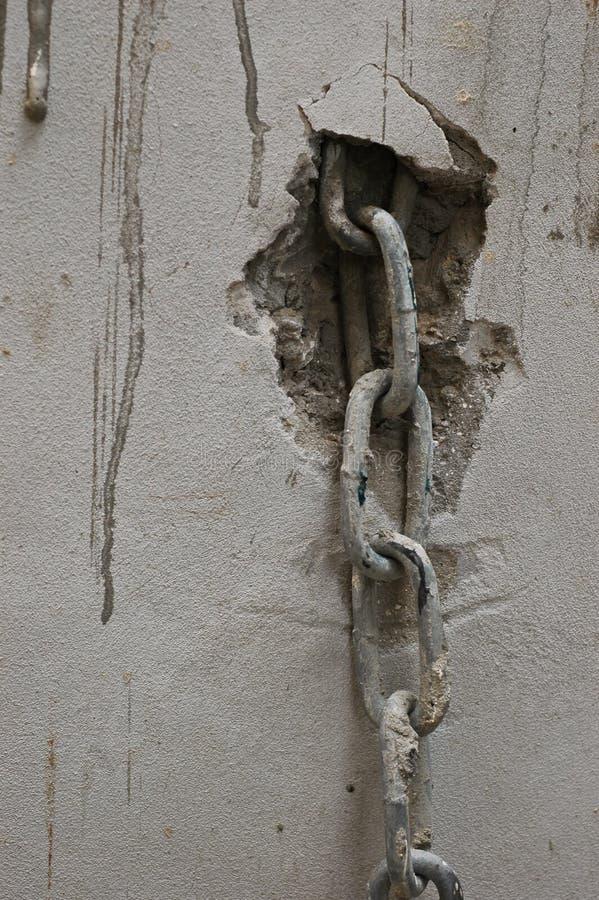 链金属墙壁白色 免版税图库摄影