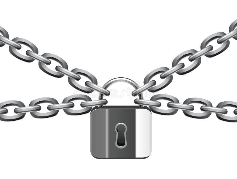 链金属挂锁 库存例证