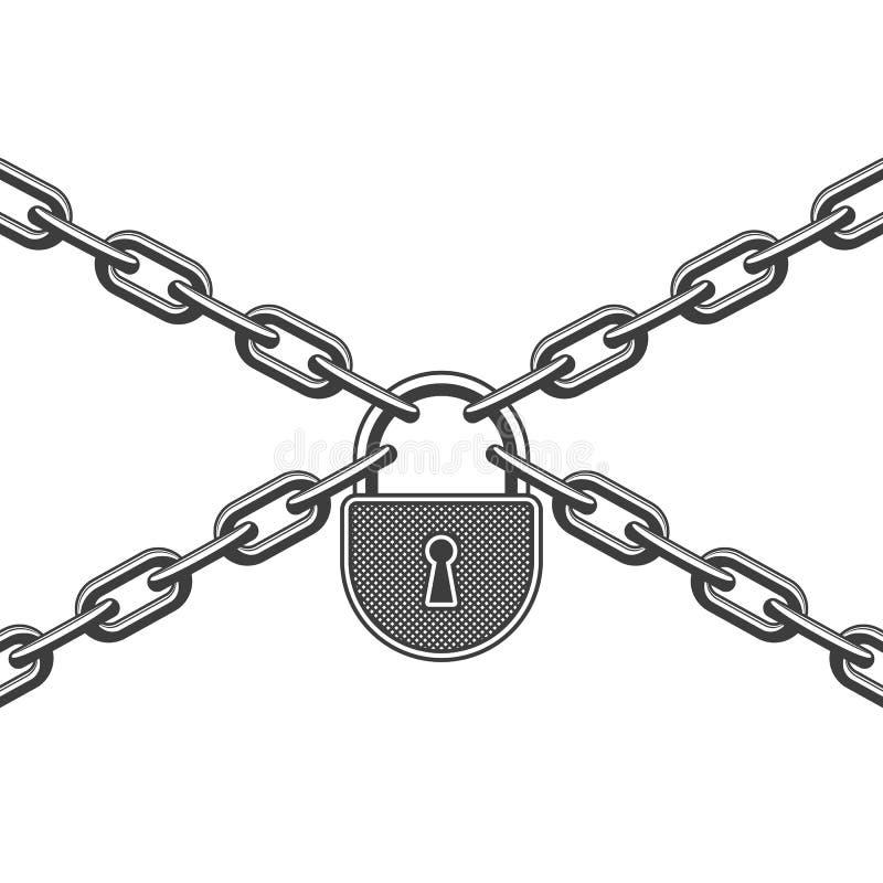 链锁定金属 向量例证