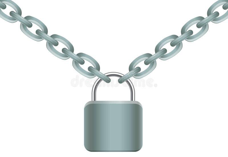 链锁定 向量例证