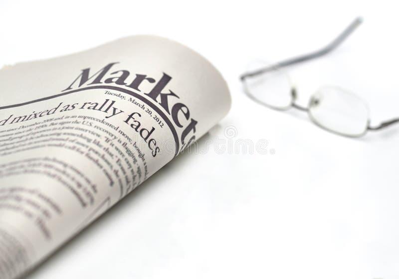 销售与copyspace的报纸 免版税库存照片