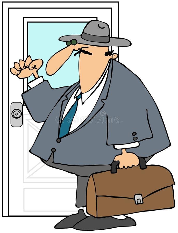 销售人员旅行 库存例证