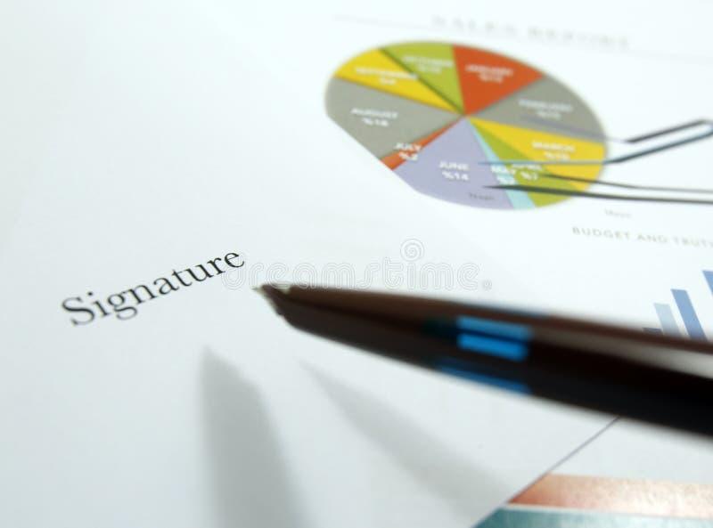 销售协定和清单 免版税库存图片