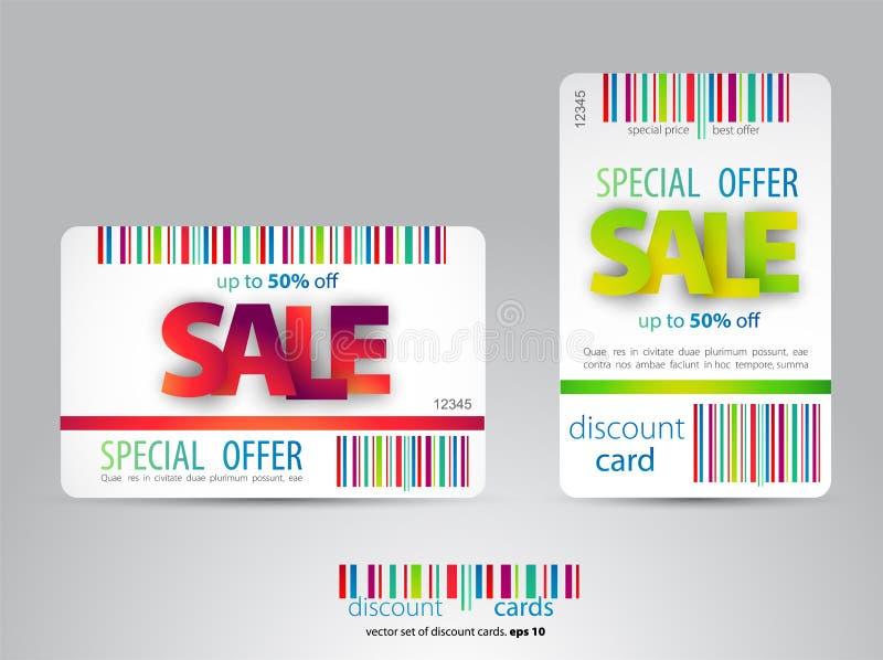 销售卡片您的事务的模板设计 向量例证