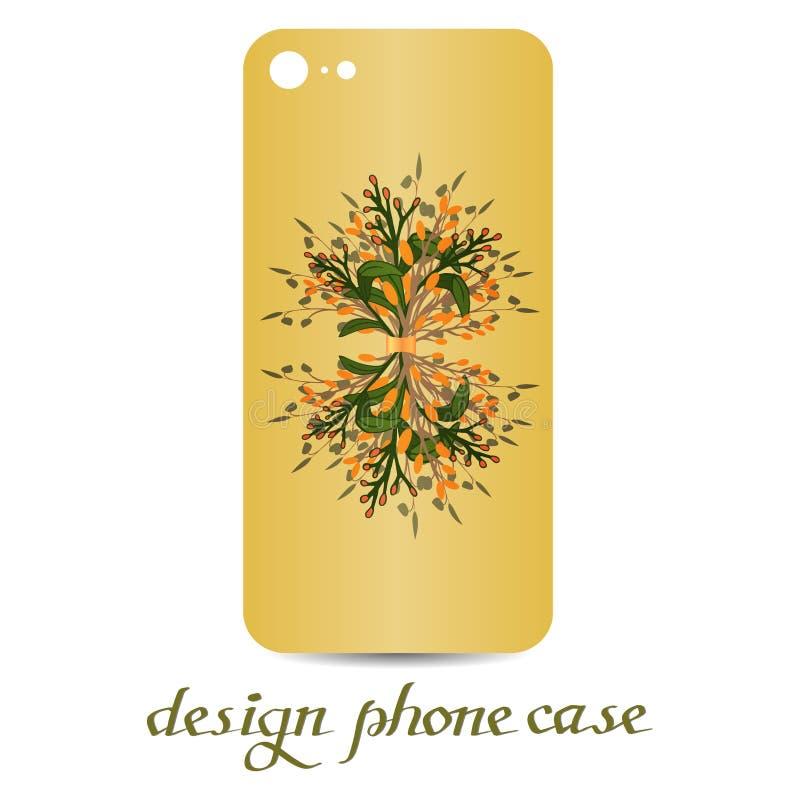 销售卡片,植物的传染媒介自然elementsDesign电话盒 是花卉装饰的电话盒 装饰要素葡萄酒 皇族释放例证