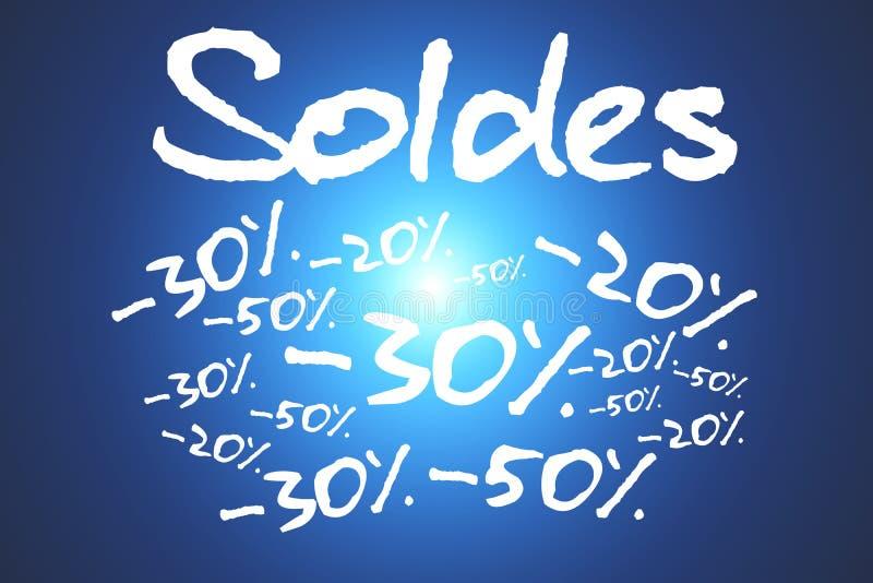 销售和在背景隔绝的促进概念 免版税库存图片