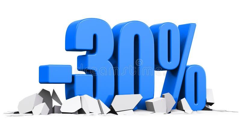 30%销售和折扣广告概念 向量例证