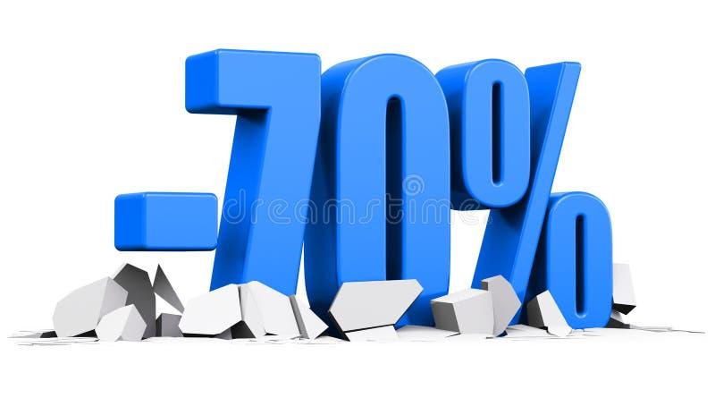 70%销售和折扣广告概念 向量例证