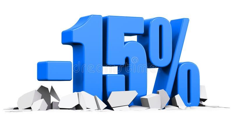 15%销售和折扣广告概念 库存例证