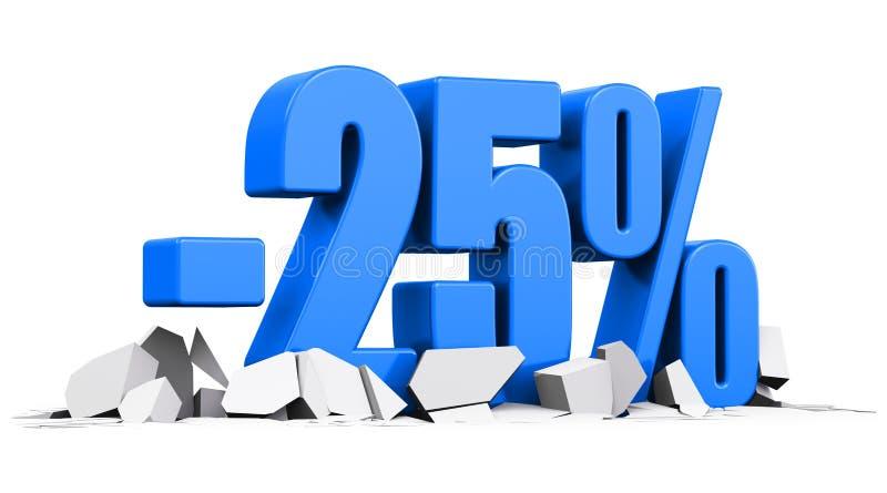 25%销售和折扣广告概念 向量例证