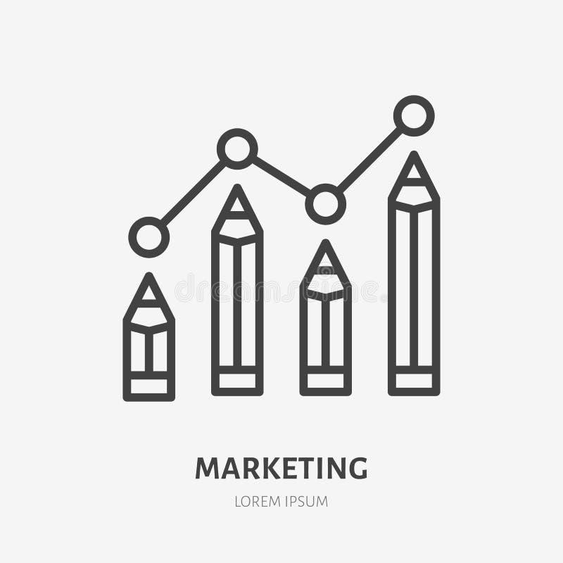 销售平的线象的数字 卖文本,书写infographic传染媒介例证 美满的战略的稀薄的标志 向量例证