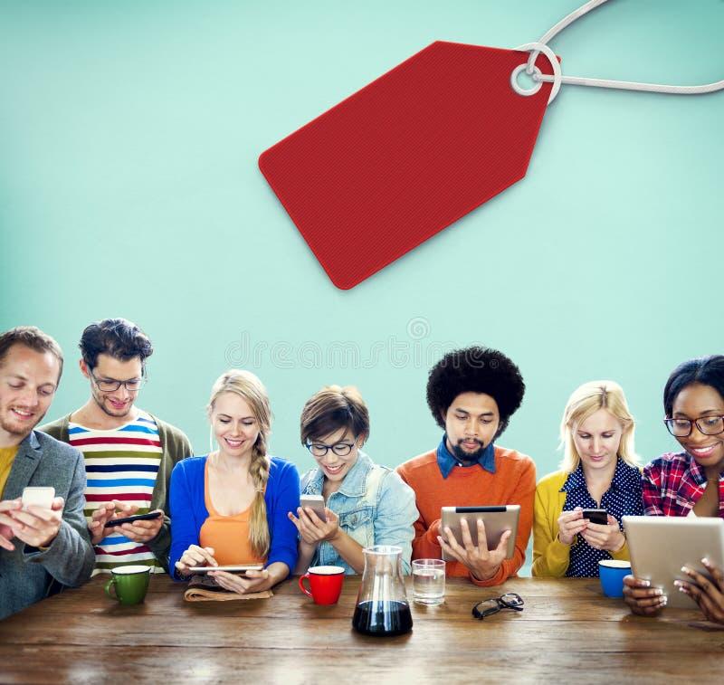 销售折扣标签标记商务概念 免版税库存照片