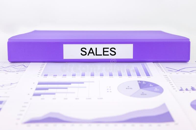 销售报告和营销注标对营业收益的分析 免版税库存照片