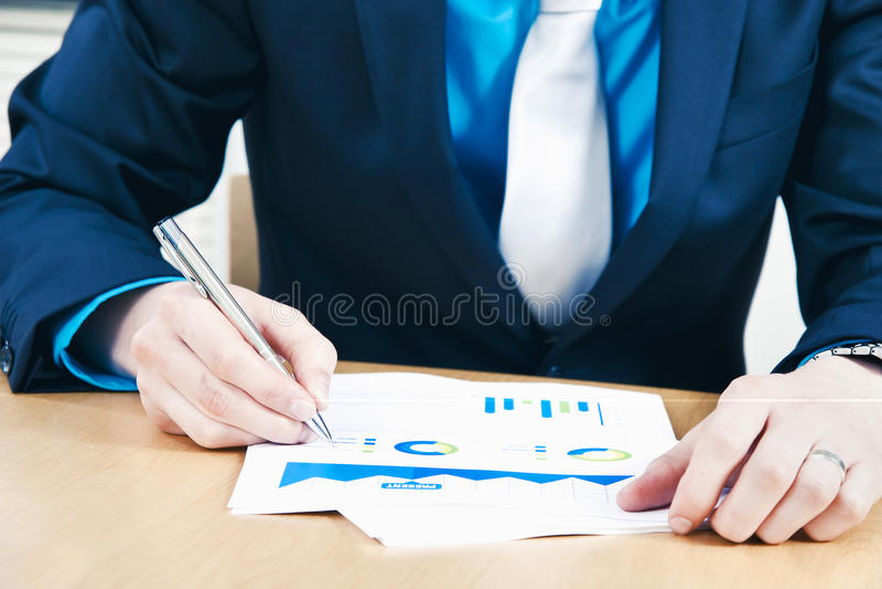 销售报告 免版税库存图片