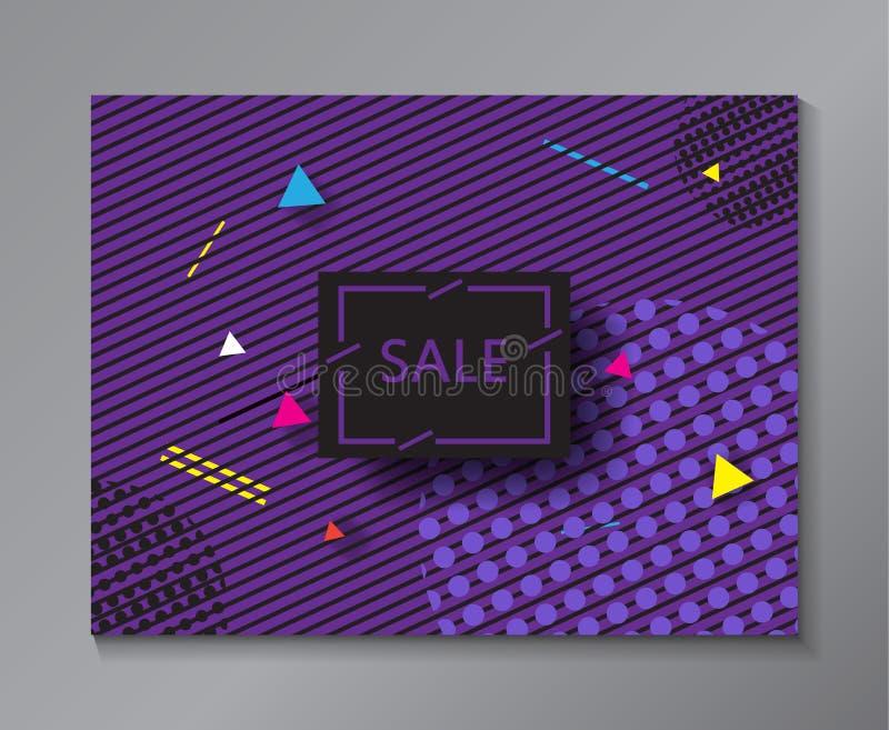 销售抽象最小的横幅 向量例证