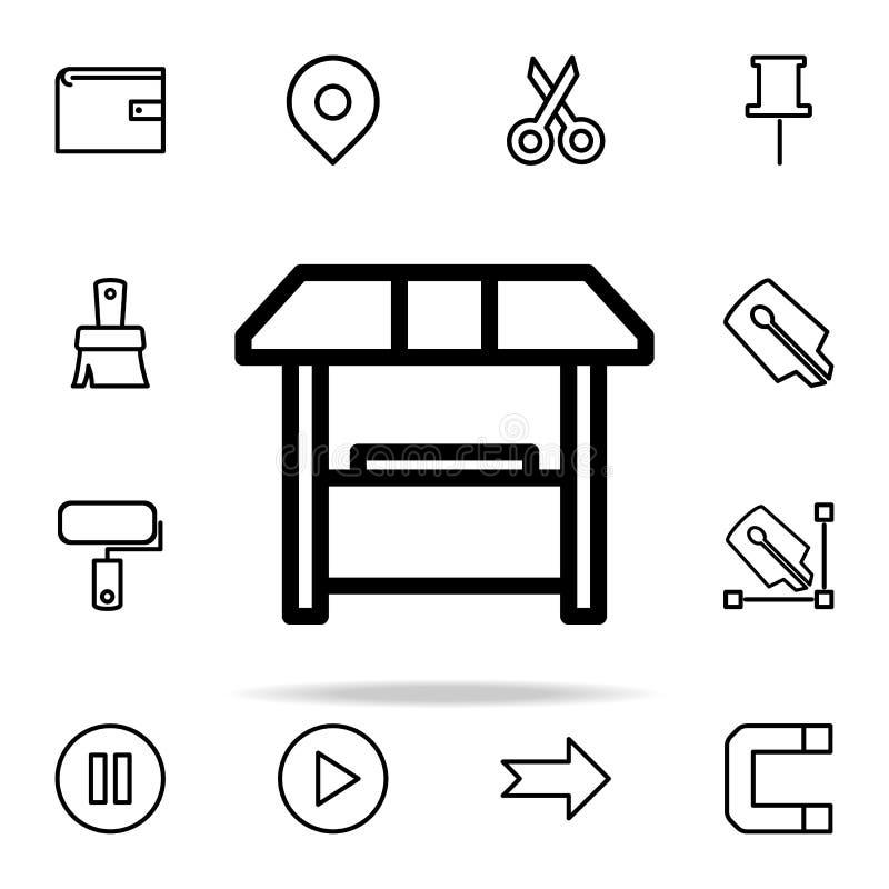 销售摊位象 网和机动性的网象全集 库存例证