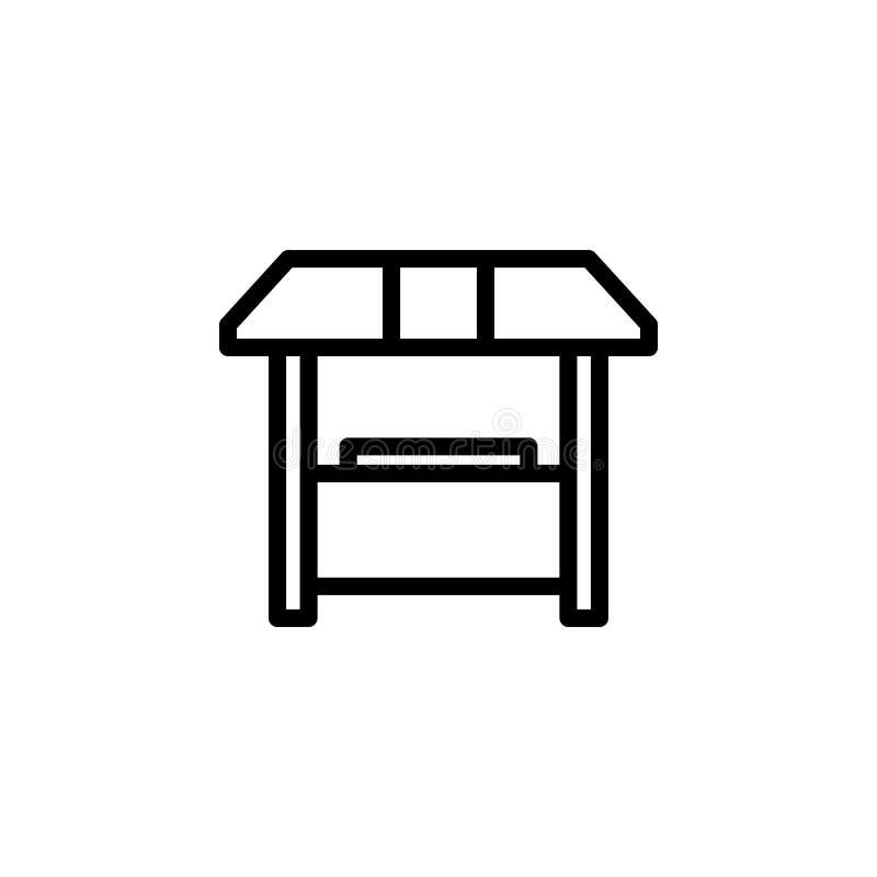 销售摊位象 minimalistic象的元素流动概念和网apps的 网站设计和发展的稀薄的线象, 库存例证