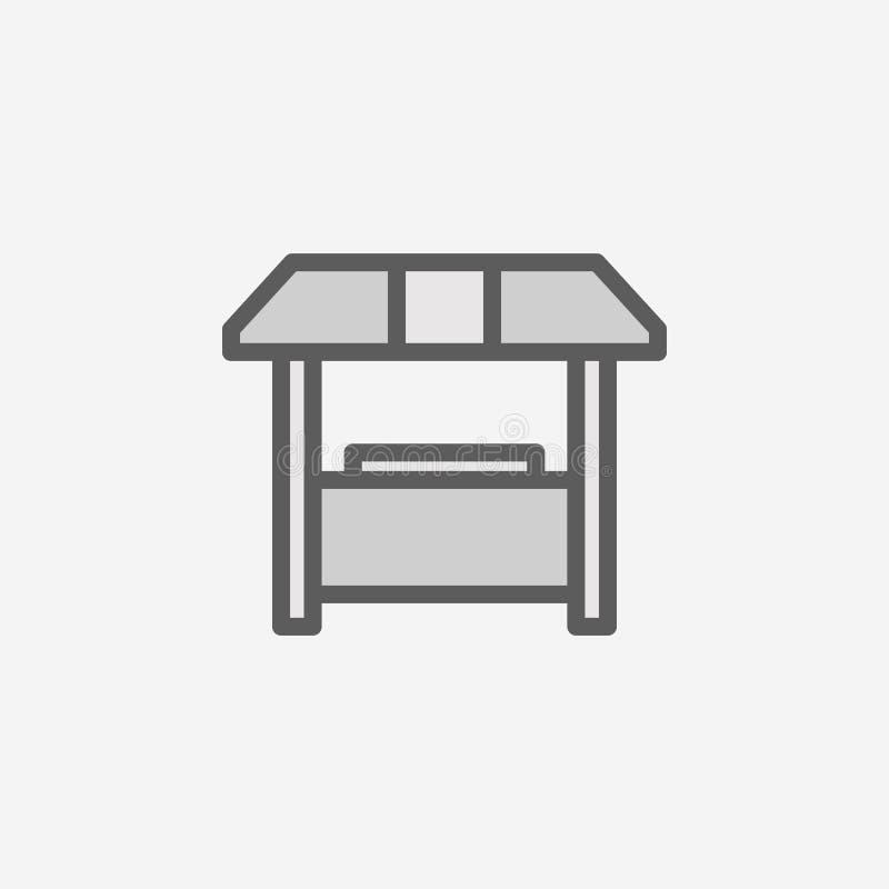 销售摊位领域概述象 2种颜色简单的象的元素 网站设计和发展的, app发展稀薄的线象 向量例证
