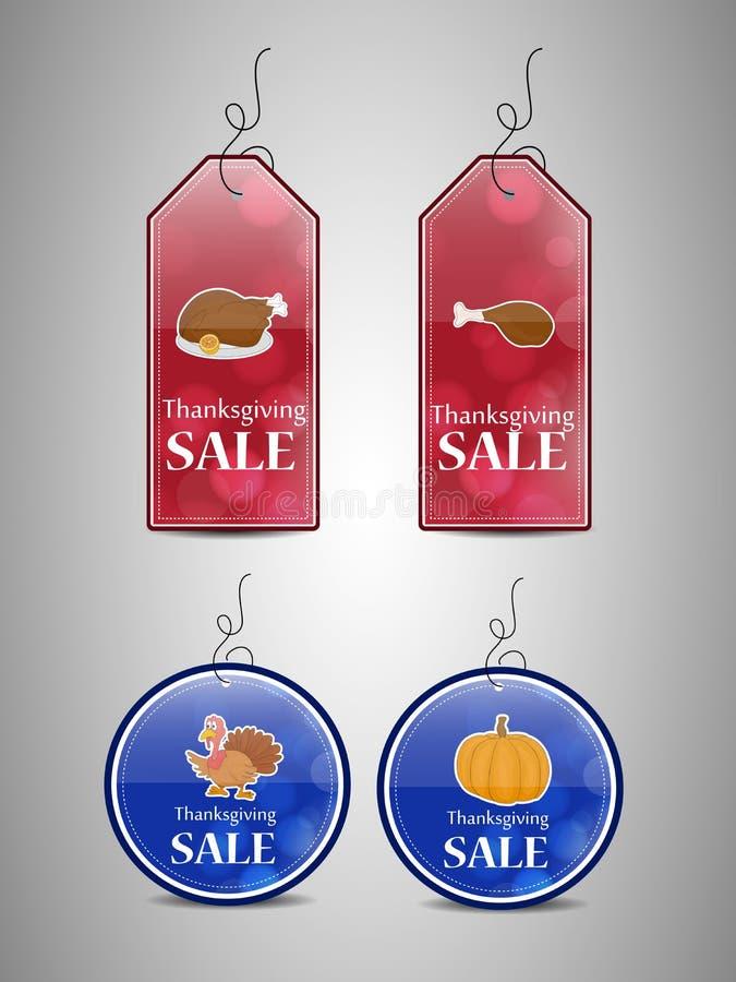 销售标记的例证感恩的 库存例证