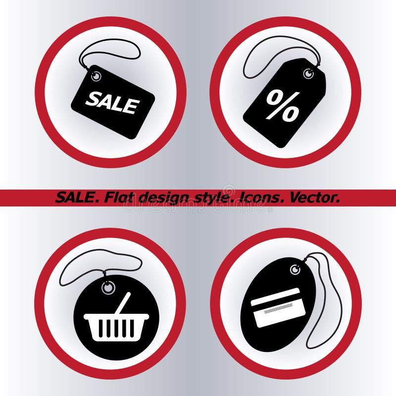 销售标记象,传染媒介例证 平的设计 库存例证