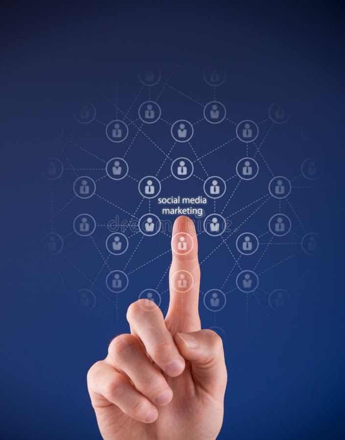销售概念的社会媒体 免版税库存图片