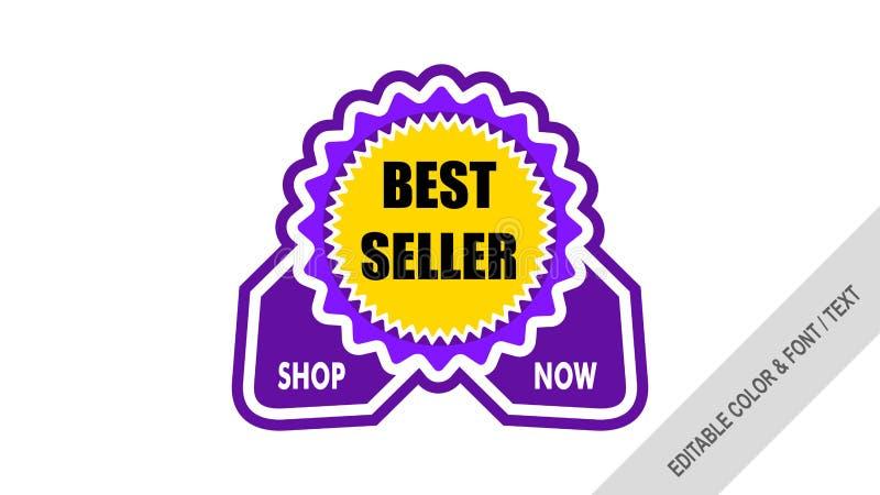 销售横幅模板设计标签销售 向量例证