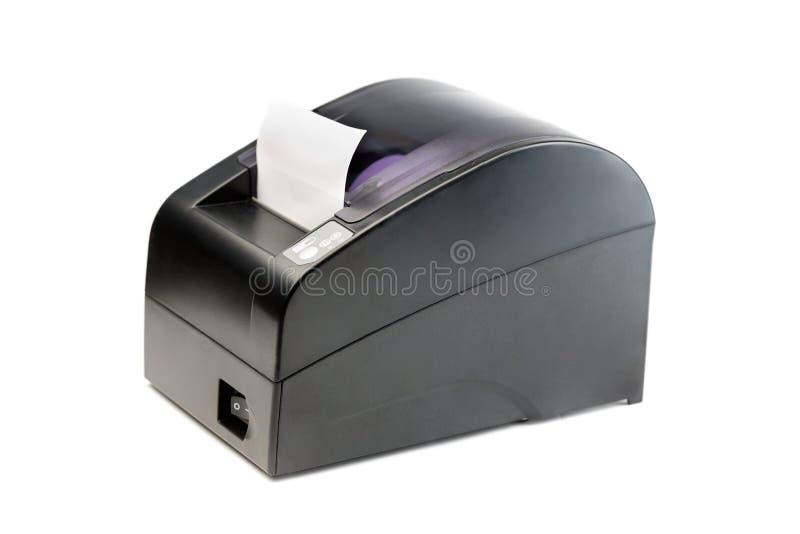 销售点系统的现代打印机检查 图库摄影
