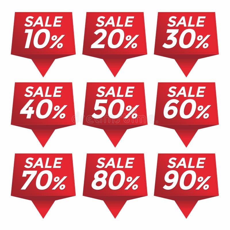 销售百分之价目表价格标记 库存例证