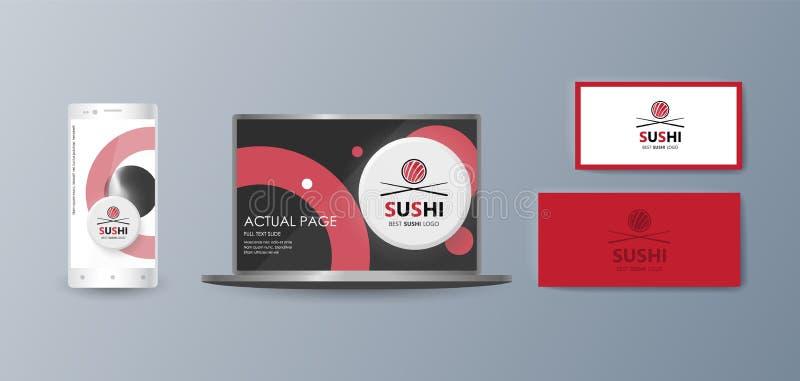 销售的促进商品和服务的汇集时兴的时髦的项目的介绍在市场上 向量例证