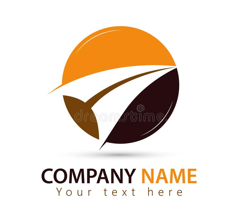 销售的商标箭头标志商标设计元素 向量例证