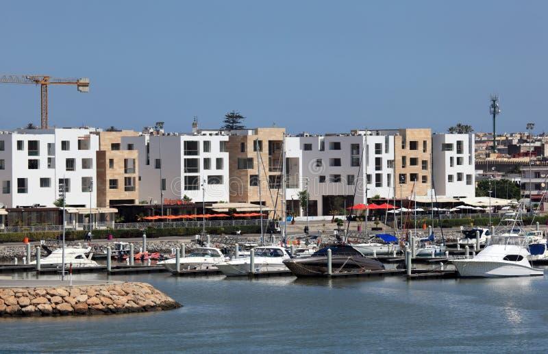 销售的布赖格赖格小游艇船坞,摩洛哥 免版税库存照片