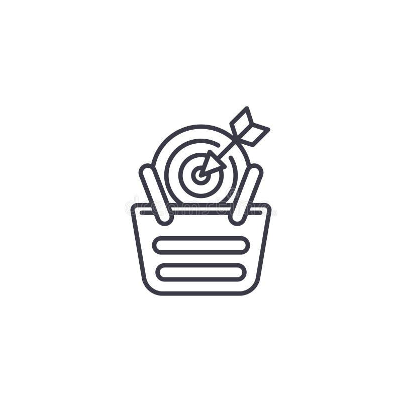 销售目标线性象概念 销售目标线传染媒介标志,标志,例证 皇族释放例证