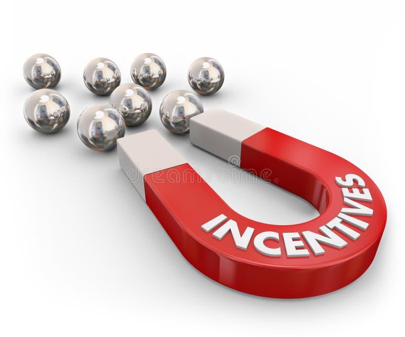 销售磁铁的刺激吸引新的顾客 向量例证