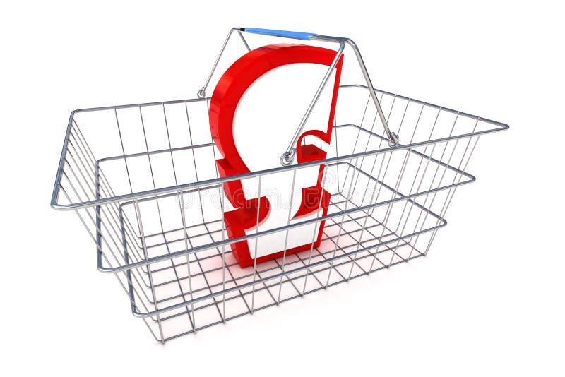 销售磅篮子例证 库存例证