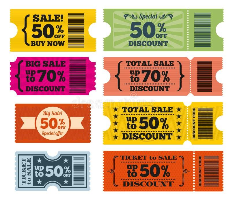 销售票传染媒介集合 向量例证