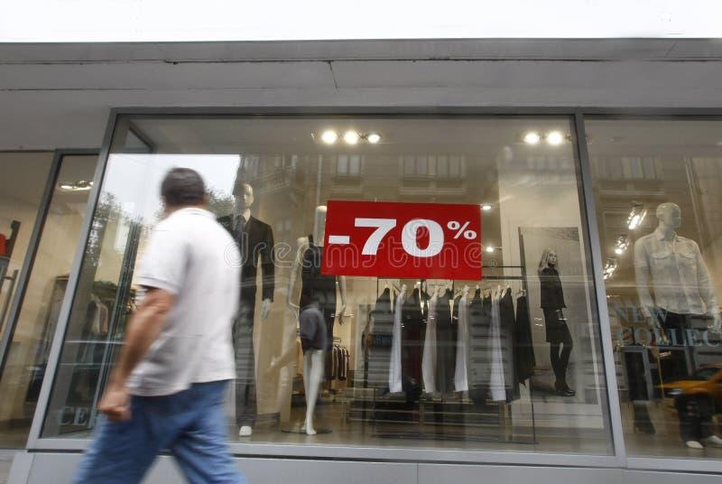 销售窗口购物 图库摄影
