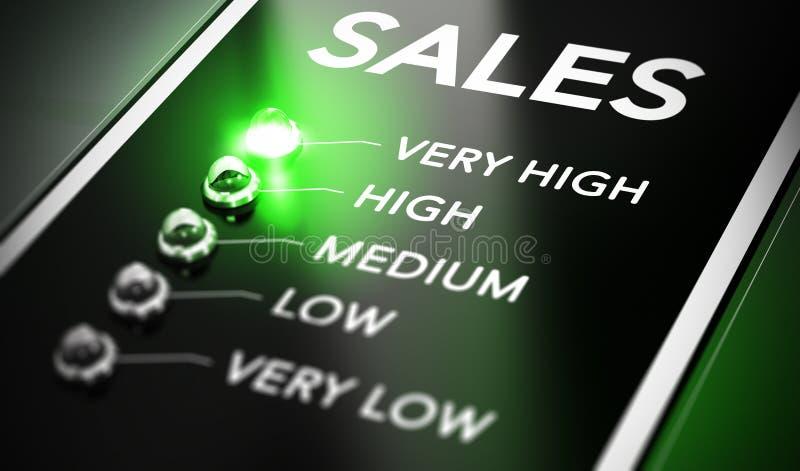 销售管理 库存例证