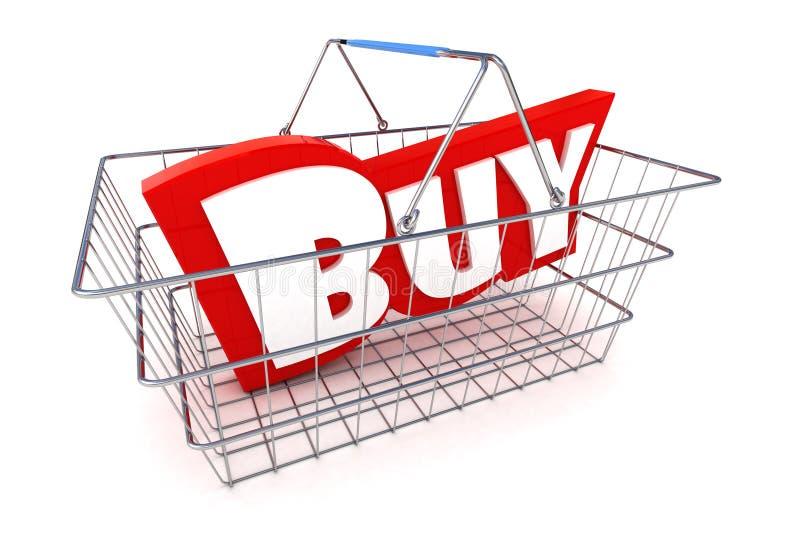 销售篮子 库存例证