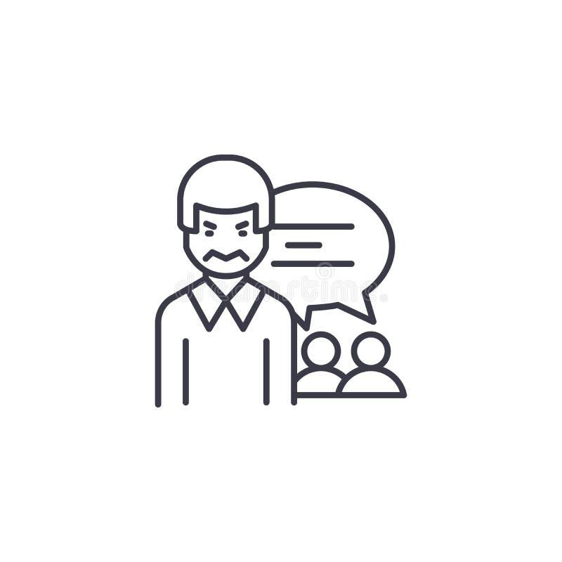 销售线性象概念的蜂声 嗡嗡叫营销线传染媒介标志,标志,例证 库存例证