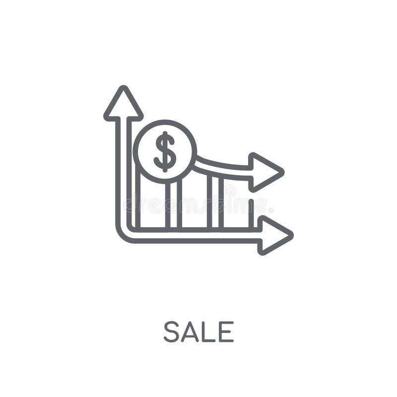 销售线性象 在白色后面的现代概述销售商标概念 库存例证