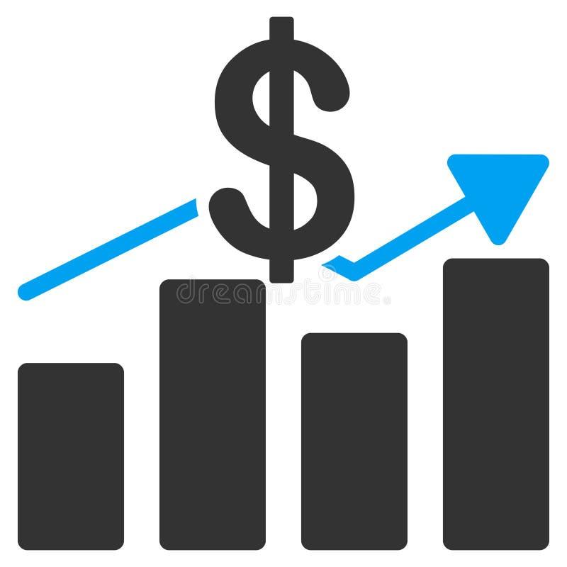 销售绘制平的象图表 库存例证