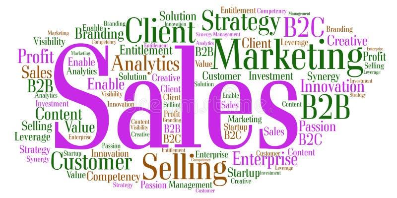销售词云彩 向量例证