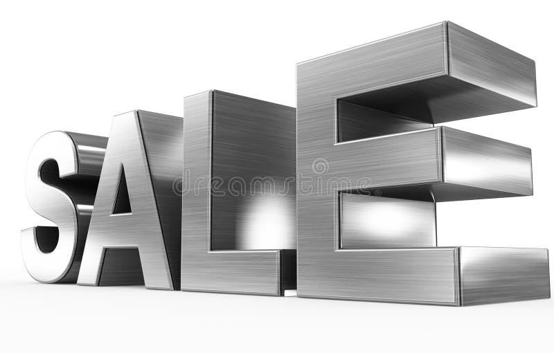 销售金属- 3d在白色隔绝的信件 向量例证