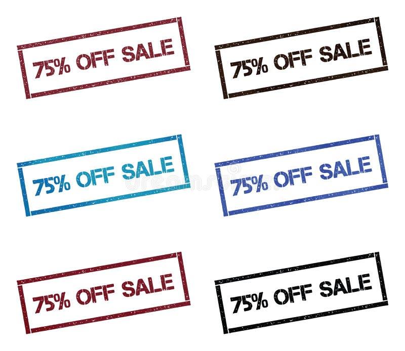 75%销售长方形集邮 向量例证