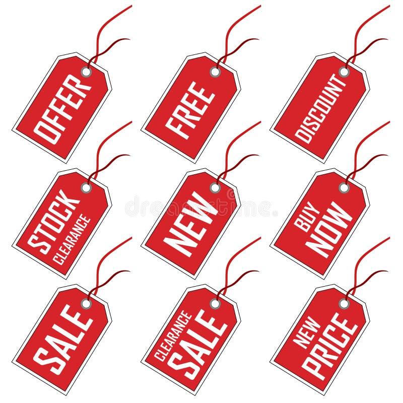 销售额标签 库存例证